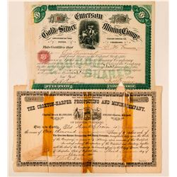 Two Colorado Mining Stock Certificates: Emerson and Croxton-Harper  (100938)