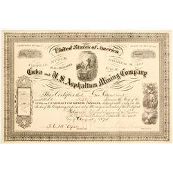 Cuba and U. S. Asphaltum Mining Company Stock  (81930)