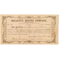 Bellevue Mining Company Stock Certificate  (100950)