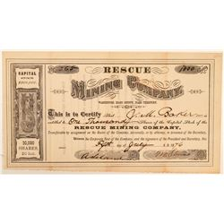 Rescue Mining Company Stock Certificate  (100955)