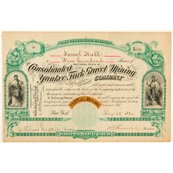 Consolidated Yankee Fork Gravel Mining Co. Stock Certificate  (100944)