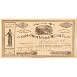 Margaret Gold & Silver Mining & Milling Co. Stock Certificate  (101571)