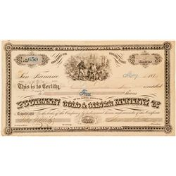 Poorman Gold & Silver Mining Co. Stock Certificate  (100957)
