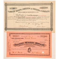 Two Different Idaho Mining Stock Certificates  (101568)