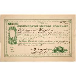 Huntington Mining Company Stock Certificate  (102228)