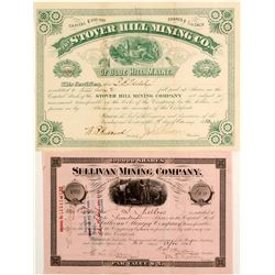 Two Maine Silver Mining Stocks: Sullivan and Stover Hill  (81955)