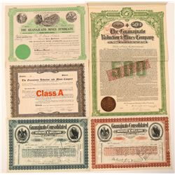 Five Different Guanajuato Mining Stocks  (101404)