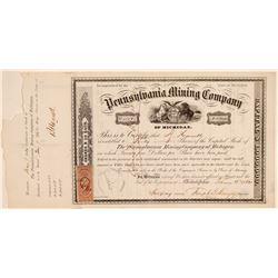 Pennsylvania Mining Company Stock Certificate  (102234)
