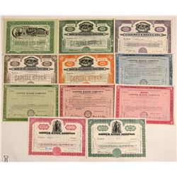 Eleven Different Michigan Mining Stock Certificates  (102216)