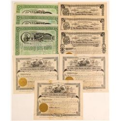 Michigan Mining Stock Certificates for Foreign & US Financed Mines  (102480)