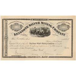 Keystone Silver Mining Co. Specimen Stock Certificate  (91540)