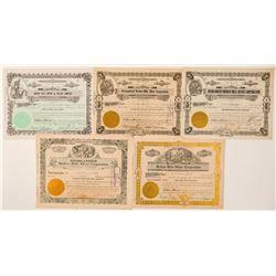 Broken Hills Mining Stock Certificate Collection  (101578)