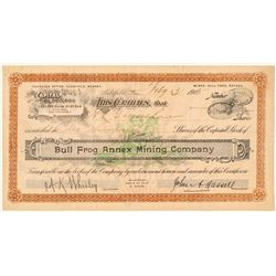 Bull Frog Annex Mining Company Stock Certificate  (101585)