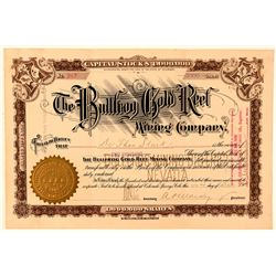 Bullfrog Gold Reef Mining Company Stock Certificate  (101628)