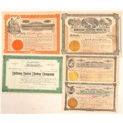 Bullfrog Mining Stock Certificates: Daisy, Gold Bar, Homestake  (102196)