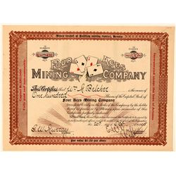 Four Aces Mining Company Stock Certificate, Bullfrog, NV 1905  (101630)