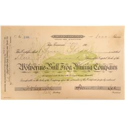 Wolverine-Bull Frog Mining Company Stock Certificate  (102181)