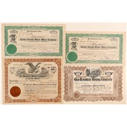Cactus Springs, Nevada Mining Stock Certificates  (102164)