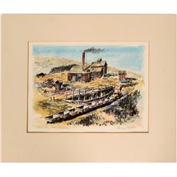 Holmes Silver Mine Watercolor by Mathis  (101777)