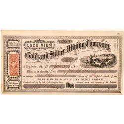 Lake View Gold & Silver Mining Company Stock Certificate  (100980)