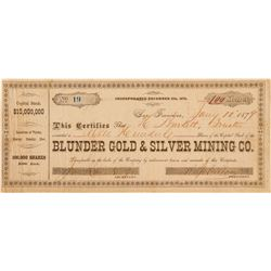 Blunder Gold & Silver Mining Co. Stock Certificate  (100882)
