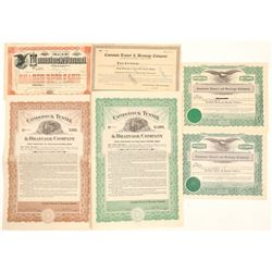 Comstock Tunnel & Drainage Co. Stock & Bond Collection  (102197)