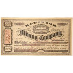 Robinson Mining Company Stock  (91891)