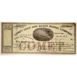 Comet Gold and Silver Mining Company Stock  (91894)