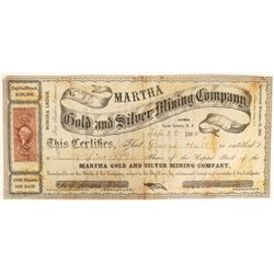 Martha Gold and Silver Mining Company Stock  (91896)