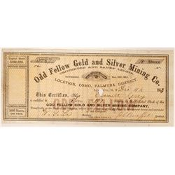 Odd Fellow Gold and Silver Mining Company Stock  (91893)