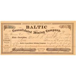 Baltic Consolidated Mining Company Stock Certificate  (100920)