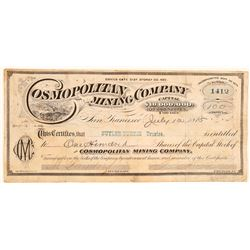 Cosmopolitan Mining Company Stock Certificate  (91840)