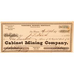 Cabinet Mining Company Stock Certificate  (100737)