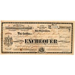 Exchequer Mining Company Stock Certificate  (101619)