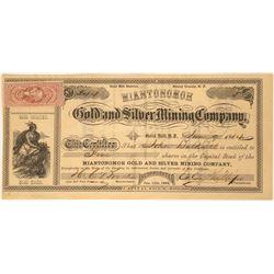 Miantonomoh Gold and Silver Mining Company Stock  (91923)