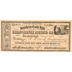 Southern Gold Hill Gold & Silver Mining Co. Stock Certificate  (100962)