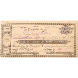 Trojan Mining Company Stock Certificate  (91545)