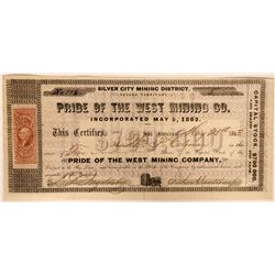 Pride of the West Mining Company Stock  (91927)