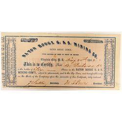 Baton Rouge G & S Mining Co. Stock  (91915)