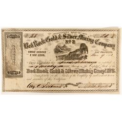 Bed Rock Gold & Silver Mining Company No. 2 Stock  (91916)