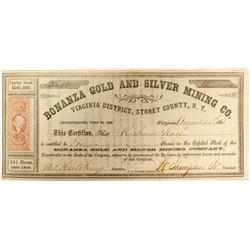 Bonanza Gold and Silver Mining Company Stock  (91917)