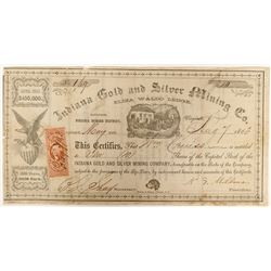 Indiana Gold and Silver Mining Company Stock  (91914)