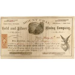 Mount Ural Gold and Silver Mining Company Stock  (91913)