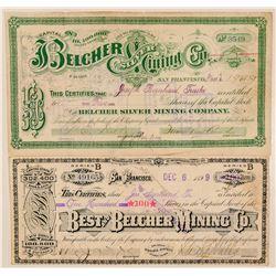 Belcher and Best & Belcher Mining Stock Certificates  (100937)