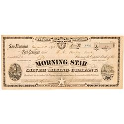 Morning Star Silver Mining Co. Stock Certificate (G.T. Brown Lith.)  (100731)