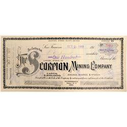 Scorpion Mining Company Stock Certificate  (102174)