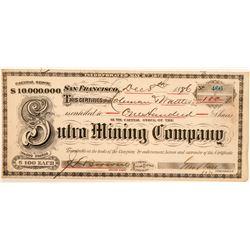 Sutro Mining Company Stock Certificate  (100918)