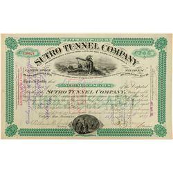 Sutro Tunnel Company Stock Certificate  (100879)