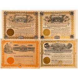 Diamondfield, Nevada Mining Stock Certificates  (101607)