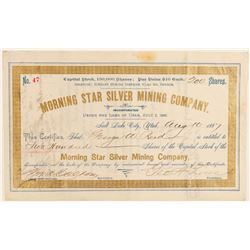 Morning Star Silver Mining Co. Stock Certificate  (91819)